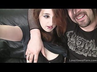 Emo babes having fun with the pulsating boner