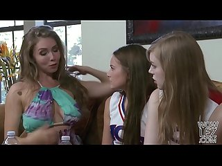 Lena Paul helps on her younger lesbian friend Scarlett Sage