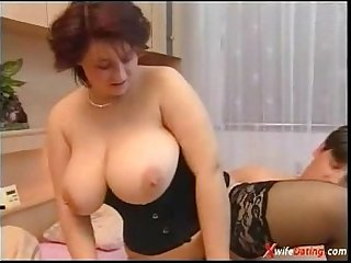 European housewife fucked hard