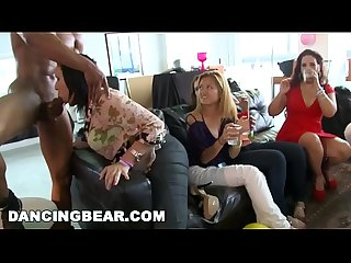 DANCING BEAR - CFNM Bachelorette Loft Party With Big Dick Male Strippers