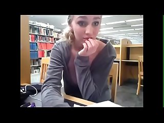 Hottest library masturbator - watch her live at RoxiCams.com