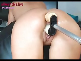 Briana banks takes a robot in the ass and then dp for allmyholes period live