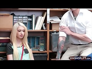 Teen chick shoplifter punish fucked rough in the office