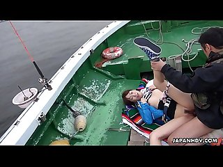 Japanese teen, Nonoka Kaede got fucked in the boat, uncensored