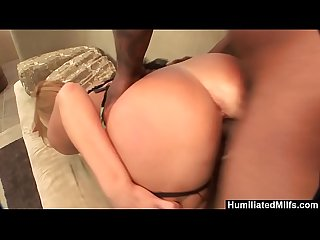 Humiliatedmilfs big booty milf takes a big black dick