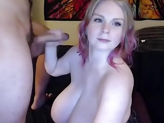Blowjob huge boobs