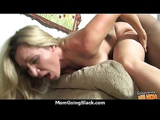 Mature mom barely takes 10 inch black cock 9
