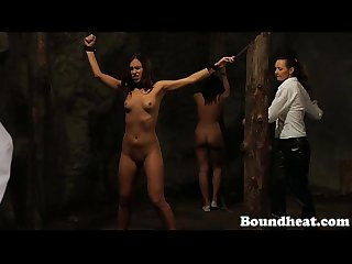 Innocent girl bound and whipped
