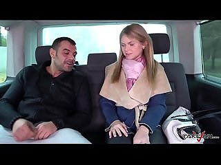 Blonde doesnt understand stranger in van and come inside where fucked hard