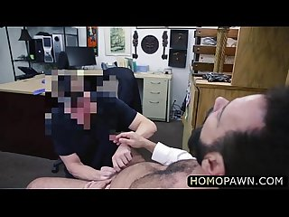 Hairy mature angry man fucked the pervert shop owner straight in the ass