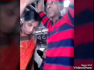 Desi Aunty Biwi groped by local man