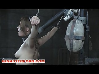Slavegirl milking in restraints