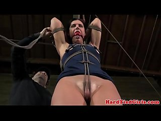 Crotch rope bondage sluts dress cut off