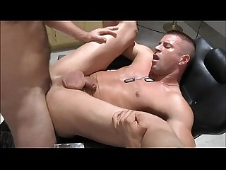 Military officer receives his superiors jizz all over his back
