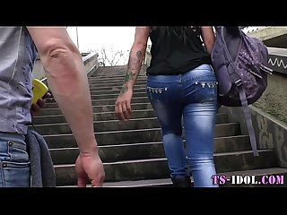 Raw nailed tranny spunked
