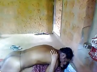 Indian young couple enjoying on godown