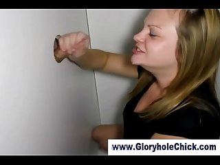Curvy gloryhole bitch gets a cumshot