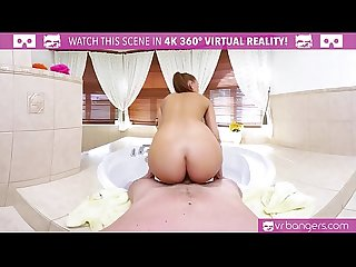 Vrbangers period com hot brunette fuck and suck in the hot tub