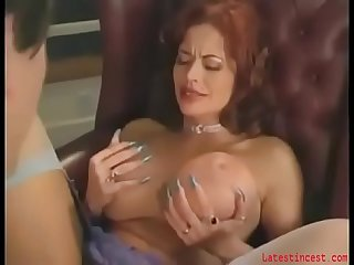 Big-tit mommy pleasuring son in a HARDCORE fuck