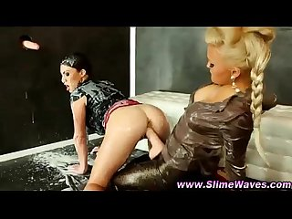 Bukkake glamour slime lesbians