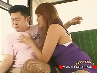 Japanese Bitch Azusa Isshiki Real Blowjob On The Bus - More Japanese XXX Full HD Porn at..