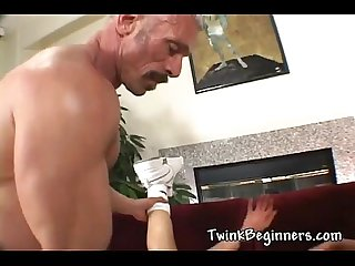 Two gay guys in hot anal scene