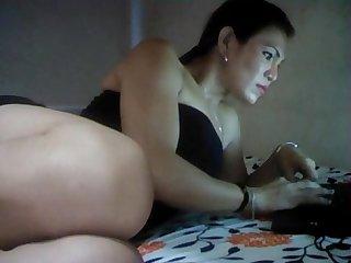 Real Filipina Hermaphrodite Skype Show #2