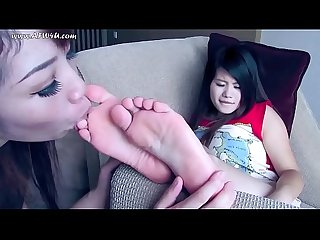 Adorable soft asian feet get worshipped