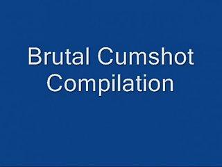 Brutal cumshot compilation