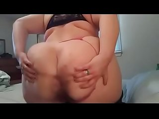 Cute fat woman talks dirty and shows asshole ass spreading joi