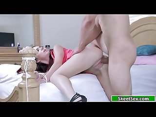 Petite slut banged hard by pissed bf