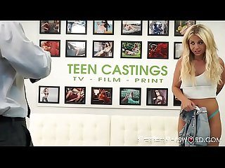 Tempting Madelyn Monroe bound and doggystyled in casting