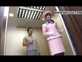 Time stop lucky guy single girl inside the eelevator