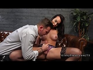 Tranny widow anal fucks hot guy