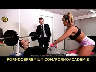 PORNO ACADEMIE - Legendary MILF Aubrey Black exclusive MMF threeway