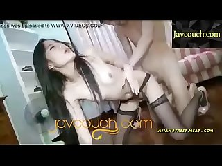 Asian doggy style cum swallow