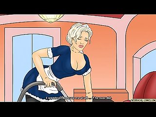 White maid in trouble - Hot interracial comics video