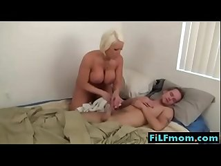 Step mom wants sleeping son cock free Family sex videos at filfmom com