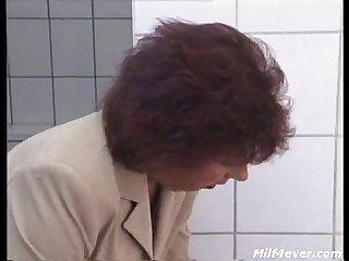 Horny masturbating granny