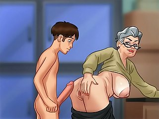 Fucking grandma in doggy style (summer time saga)