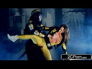 Yellow power ranger abigail mac loves to fuck after kicking enemy s ass