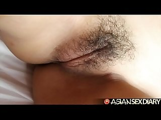 Asian Sex diary innocent looking Filipina sucks cock for facial