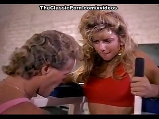 Angela summers comma randy west in sporty chick of porno 1970 gives bj in The gym