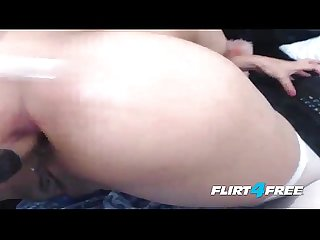 Anal asian princess double penetrates her tight little holes