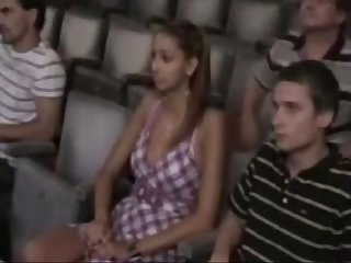 Sexy stunner groped in the cinema sexctv com