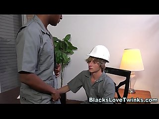 Twink fucks black ass