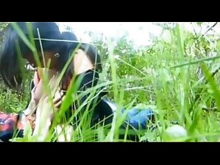 Girl outdoor fun with bf show her nice boobs n sucking dick clear audio leopard69puma