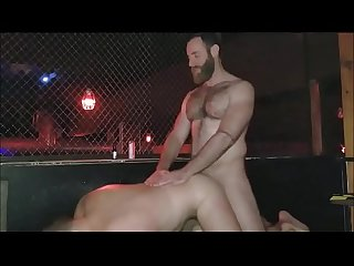 fucking with a friend at a sex club