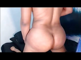 Pretty tranny fucks herself with a dildo