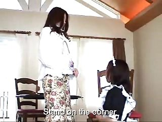 043 maid and madame spanking